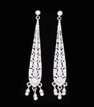long Clear Earrings image 1
