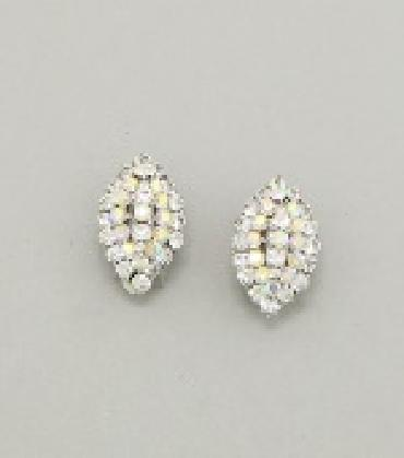Image of Small A/B Rhinestone Clip On
