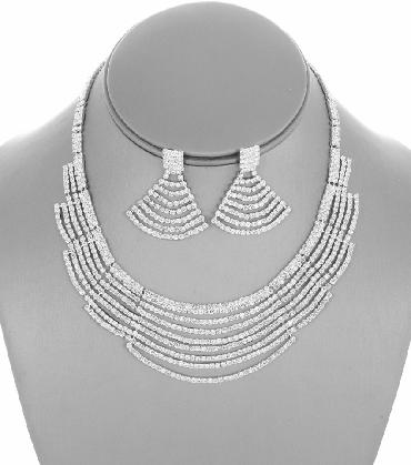 Clear Rhinestone Collar Set image 1