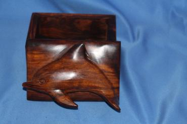 Image of Ironwood box - dolphin - small