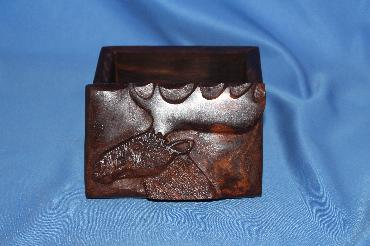 Image of Ironwood box - moose - small