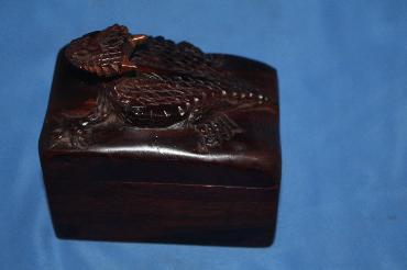 Ironwood box - horned lizard - small image 1