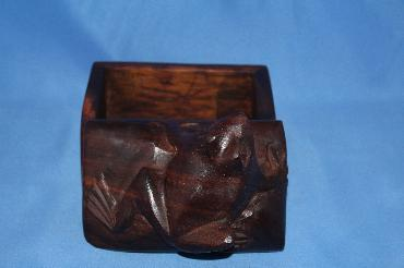 Image of Ironwood box - frog - small