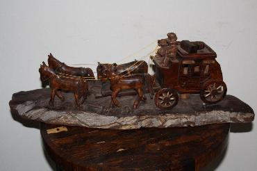Image of Ironwood Stagecoach with Four Horses