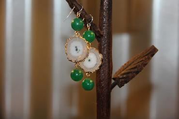 Green Agate Earrings image 1