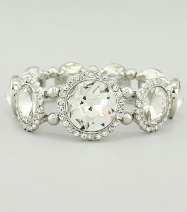 Clear Rhinestone Pageant Bracelet image 1