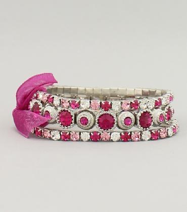 Pink 3 tier Bracelet image 1