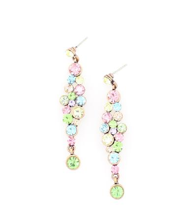 Pastel Multi Color Drop Dangle Earrings image 1