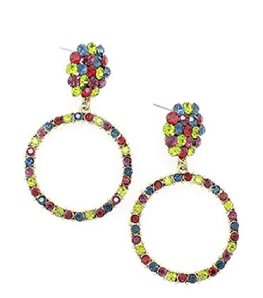 Multi Color Hoop Earrings image 1
