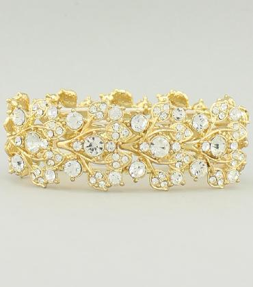 Clear Crystal Flower Design Bracelet image 1