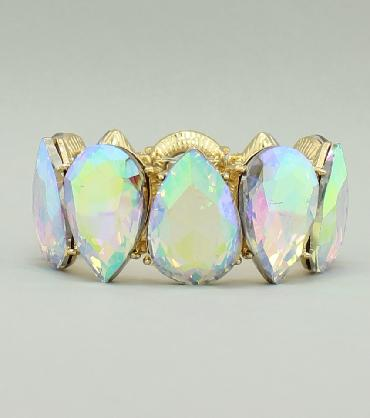 Large Crystal AB Bracelet image 1