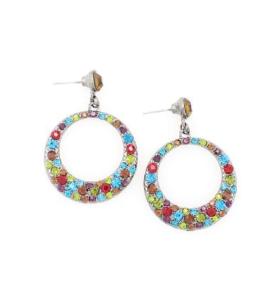 MultiColor Hoop Earrings image 1