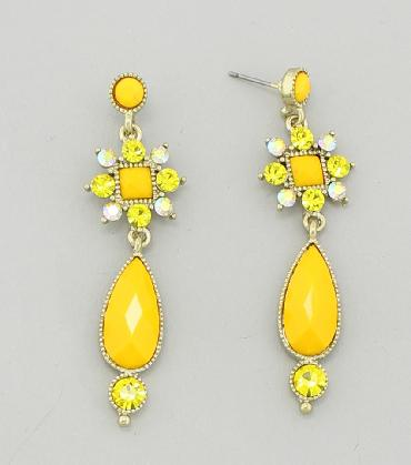 Yellow Dangle Earrings image 1