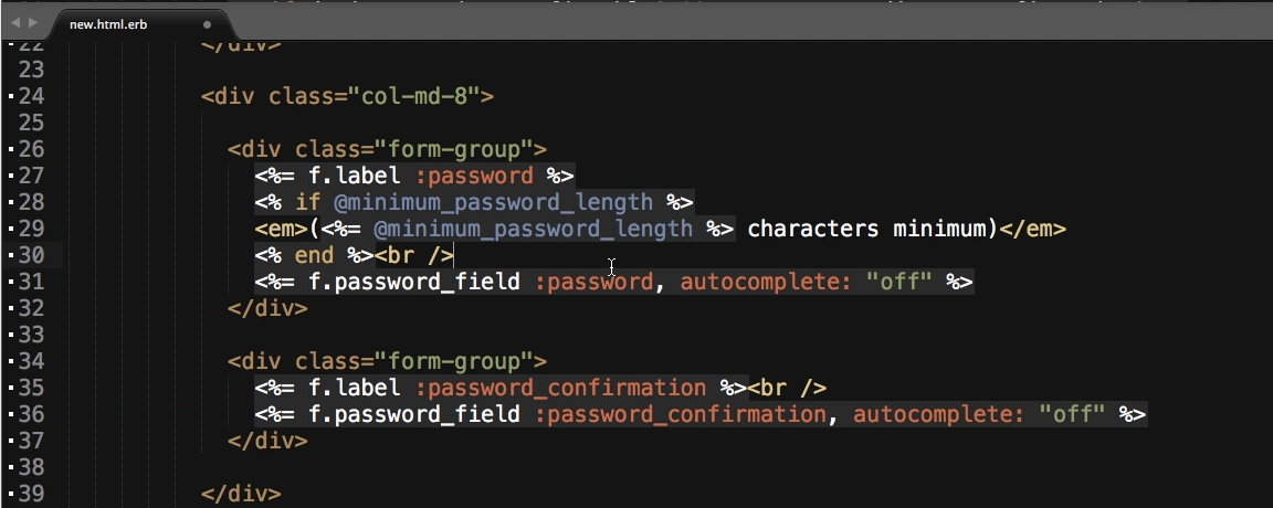 Implementing Styles for the Devise Registration Page with