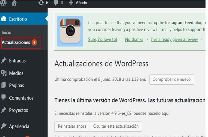 Errores en WordPress