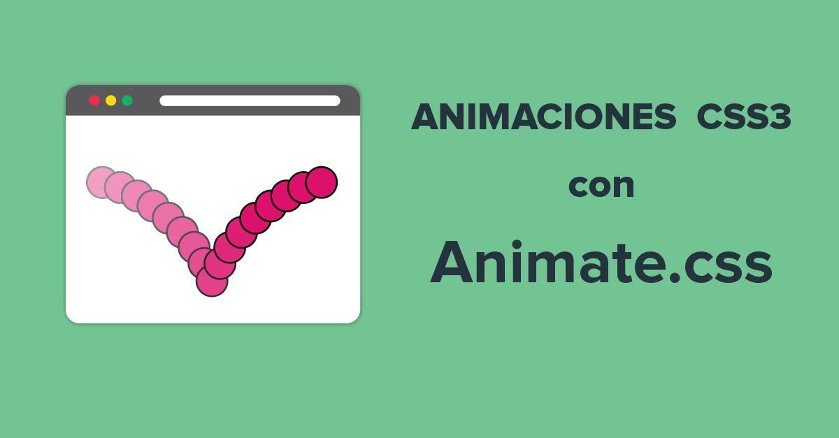 Crear animaciones CSS3 fácilmente con Animate.css