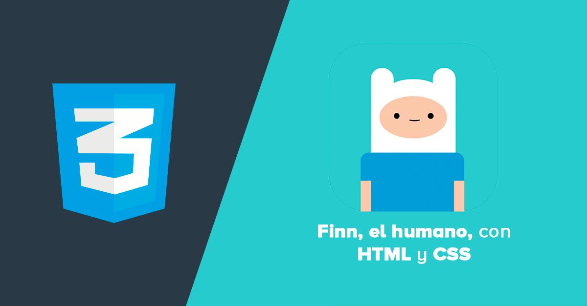 Finn el humano con HTML y CSS