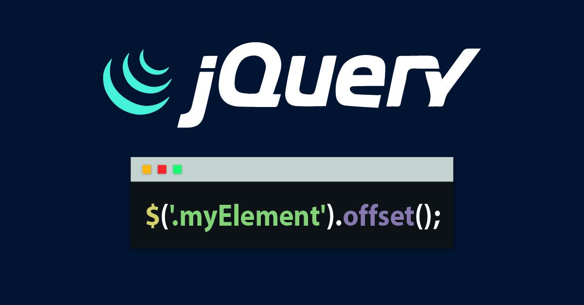 Método offset(); en jQuery