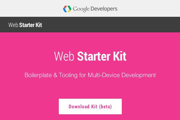 Web Starter Kit de Google