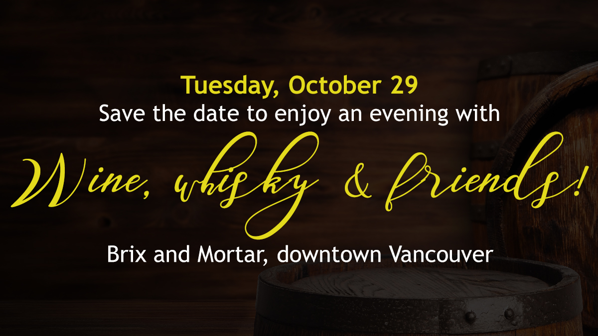 Wine, Whisky and Friends October 29, 2019