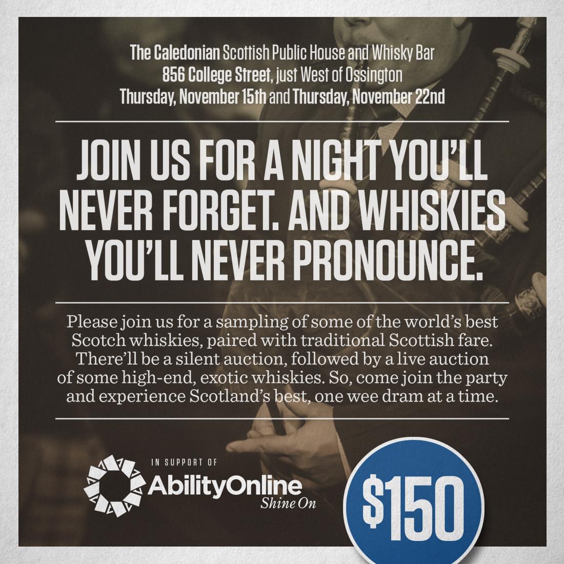 Whisky Tasting November 15th, 2018