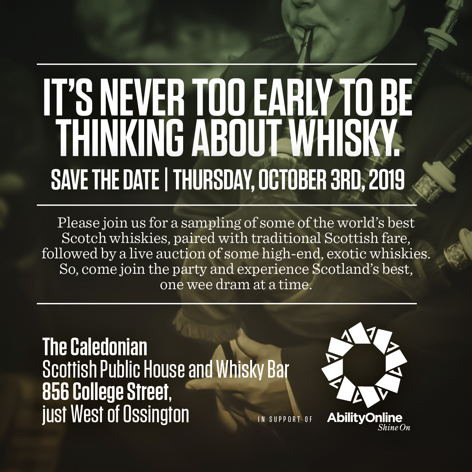Whisky Tasting Toronto Event October 3 2019