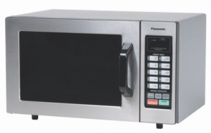 Panasonic Countertop Commercial Microwave Oven NE-1054F 0.8 Cu. Ft, 1000W Stainless Steel with 10 Programmable Memory and Touch Screen Control