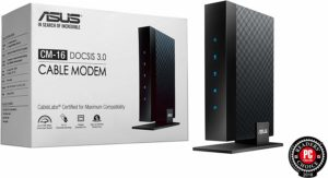 Asus CM-16 Docsis 3.0 Cablelabs-Certified 16x4 686 Mbps Cable Modem Certified by Comcast Xfinity, Spectrum and Other Service Providers