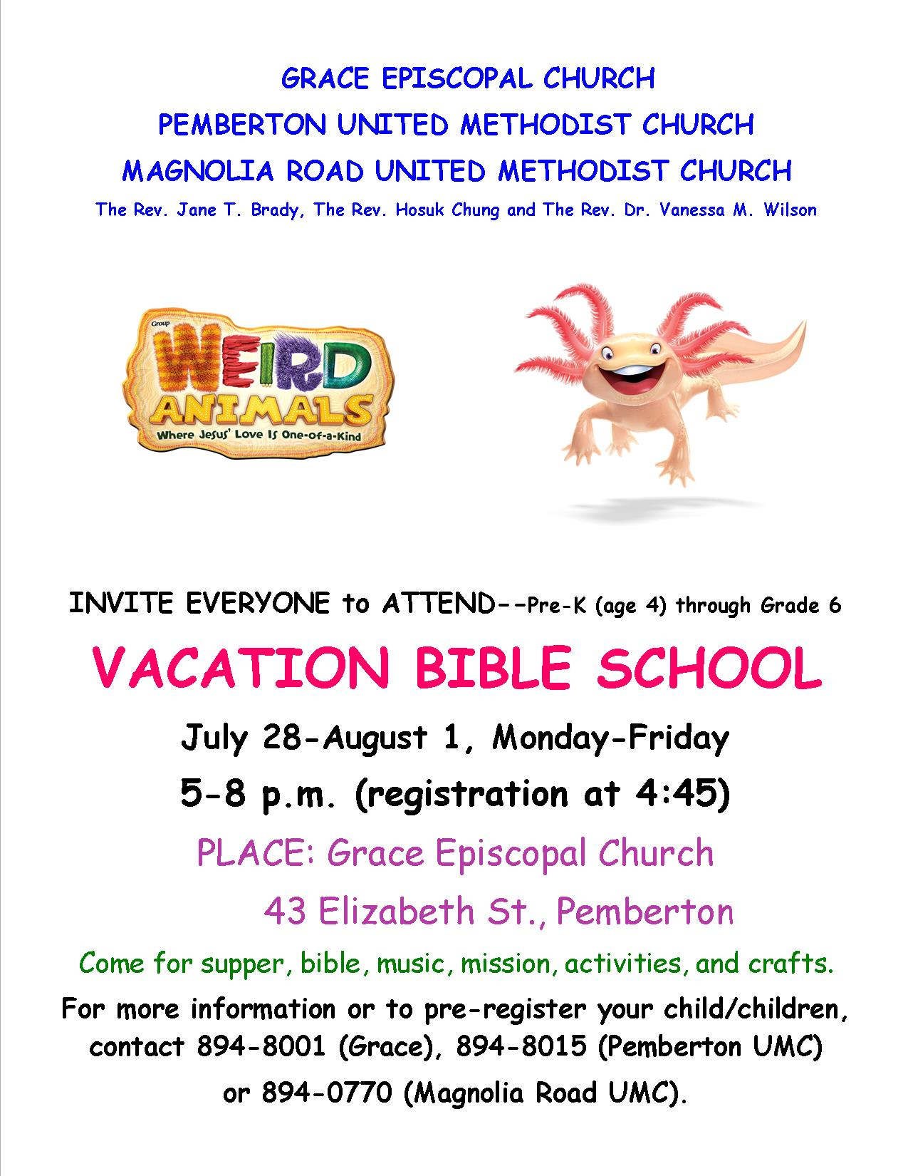 The Episcopal Diocese Of New Jersey Ecumenical Vacation Bible School