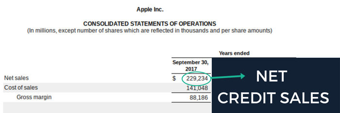 Apple Inc. (AAPL) 2017 Net Credit Sales