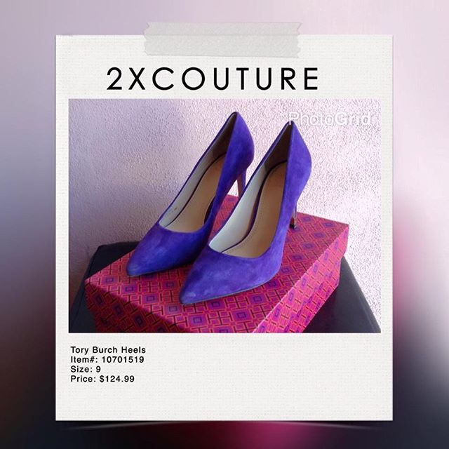 2_time_couture - Tory Burch Purple Suede Pumps