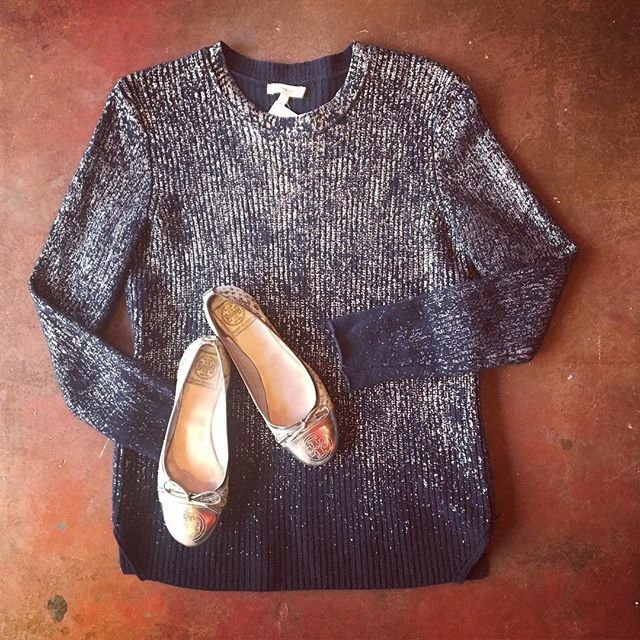 2_time_couture - Tory Butch Silver Flats, Size: 6.5
