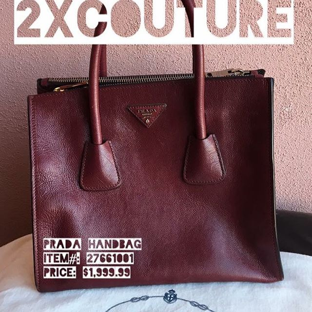 2_time_couture - Glace Calf Twin Pocket Tote Bag by Prada