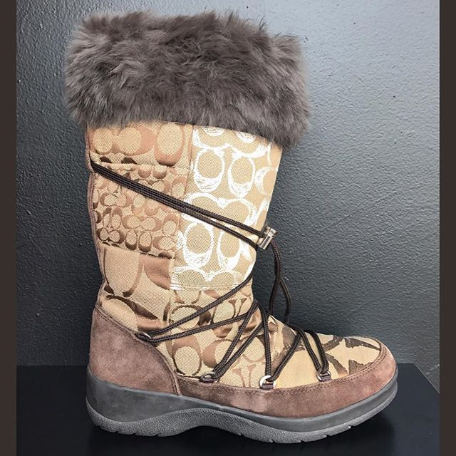 2_time_couture - Coach winter boots, Size: 8/8.5