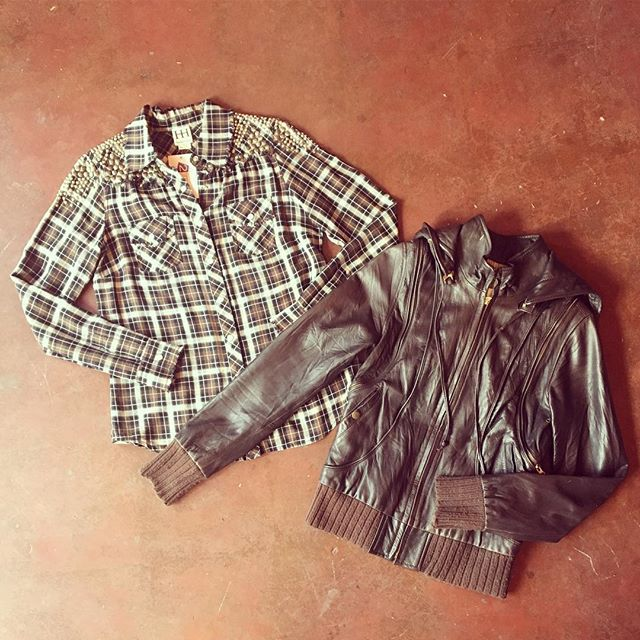 2_time_couture - . Mike & Chris Versatile Leather Jacket/Vest, Size: S