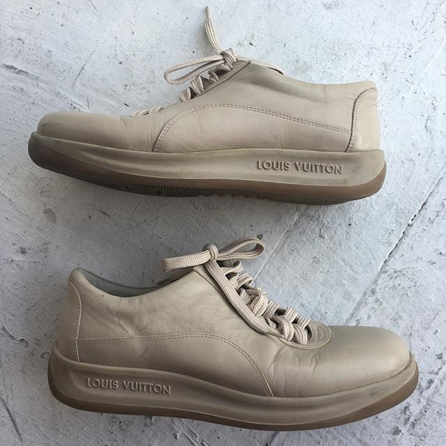 VACATION - Y'all ready for this? Authentic #louisvuitton lambskin #trainers. Combining the hotness of orthopedic-norm core-babysitter that you have a 15% chance of getting lucky with-with haute couture. Comfy and F'n cool AF. LADIES SIZE 10. Awesome condition minus a few small smudges.