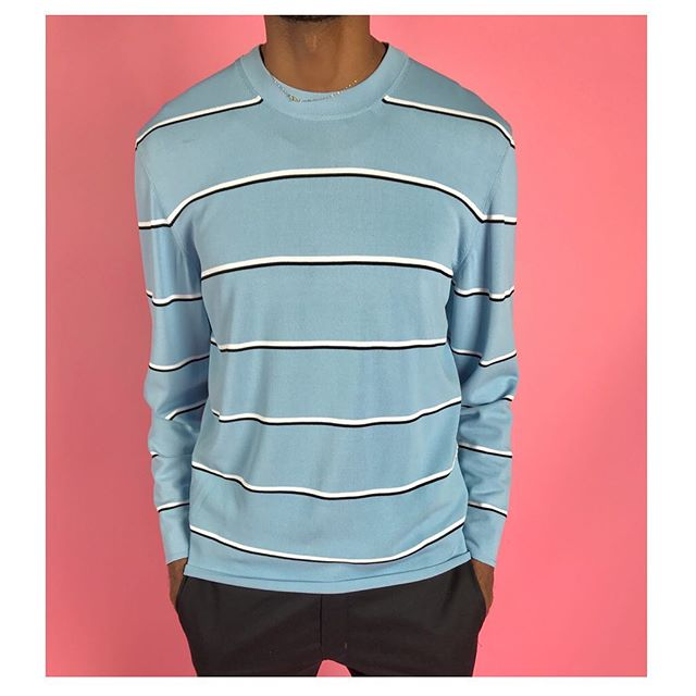 ReLove  - So fresh and so clean, CLEAN!🙏🏾 LONG SLEEVE TOP: Balenciaga Men's Striped Crew Neck. Size Large,