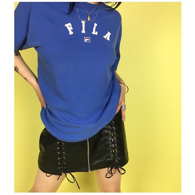 ReLove  - T-Shirt: Vintage FILA T-shirt tumbled to perfection.