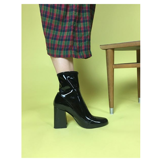 ReLove  - Shoes: Zara Black Patent Boots NWT.