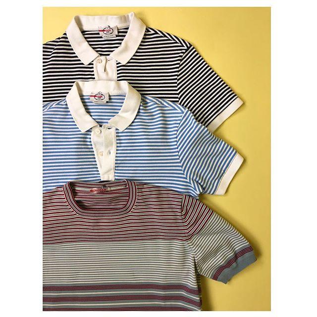 ReLove  - MENS SHIRT:  Black and white stripe polo Size M,
