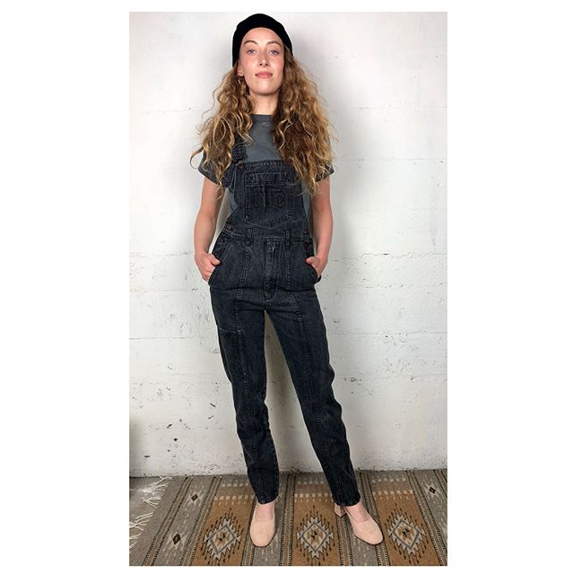 ReLove  - OVERALLS: Vintage WTC world.top.class Charcoal Overall.