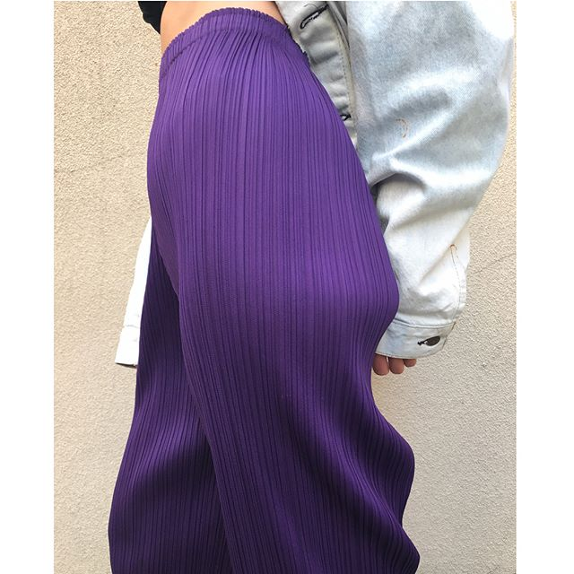 ReLove  - PANTS: Issey Miyake Pleats Please Purple Trousers.