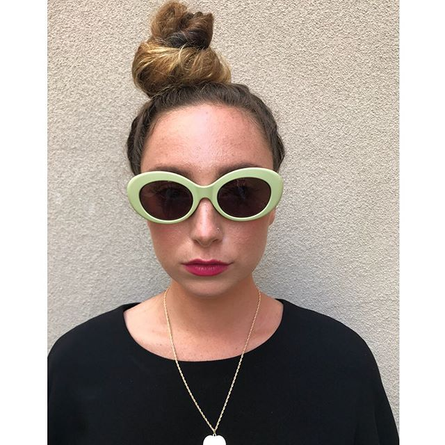 "ReLove  - SUNGLASSES: Crap Eyewear ""The Love Tempo"" Sunnie. Matte mint oval frame."