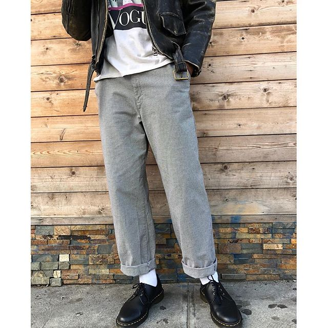 ReLove  - TROUSER: Vintage Lee elastic waist houndstooth tapered trouser.