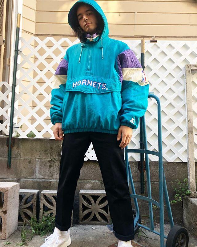 ReLove  - Charlotte Hornets lined hooded breaker.  Size XL,
