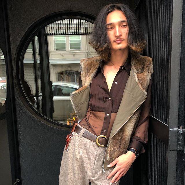 ReLove  - VEST: Dries Van Noten Rabbit Fur Vest. Wool lined with a zip closure.