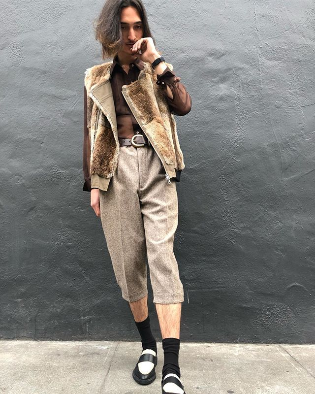 ReLove  - These cropped vintage wool trousers are everything.