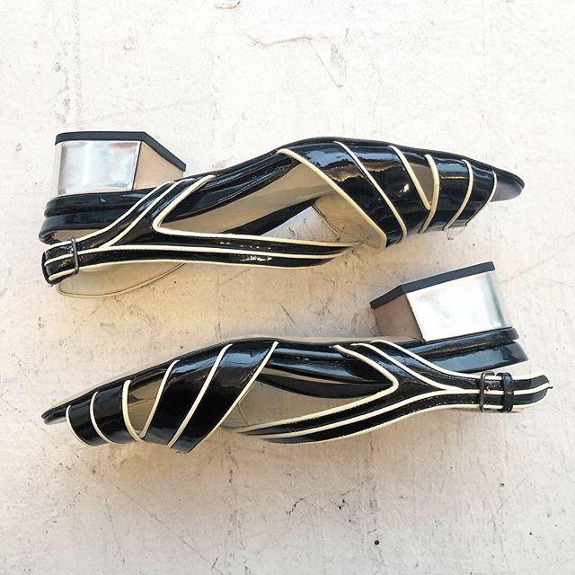 VACATION - Fresh of the press!! Paten leather #miumiu sandals. EU 38.5