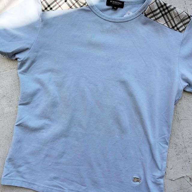 VACATION - *Special Listing* Baby blue #burberry baby tee. Size XS/S.