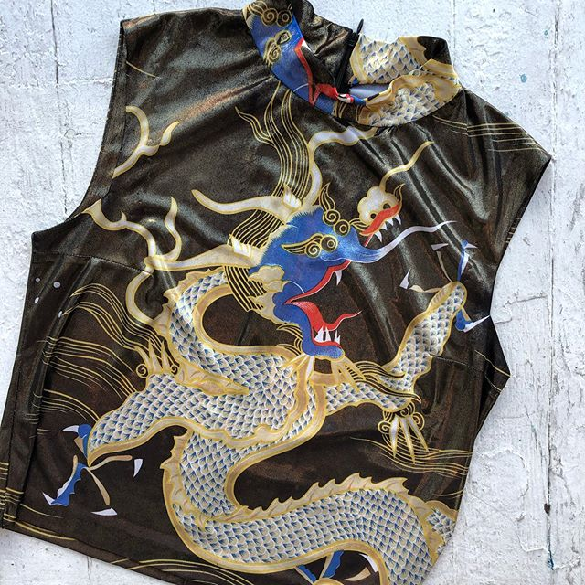 VACATION - *Special Listing* Metallic dragon 🐉 top! Size S/M.